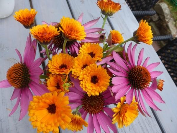 Blumenvielfalt aus dem Garten: Blumensträuße Bilder