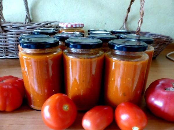 Rezepte, zum frische Tomaten einkochen und konservieren