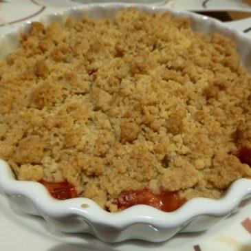 Cranberry Apfel Crumble Rezept