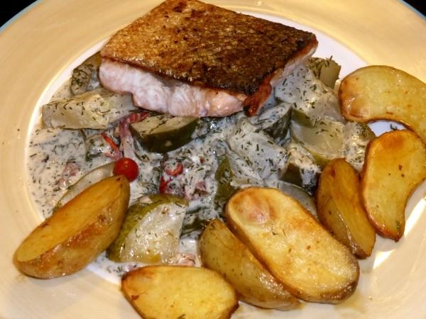Schmorgurken Rezept mit Speck, Hackfleisch, vegetarisch oder mit Fisch.