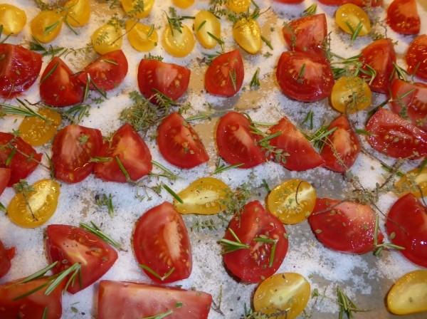 Tomaten trocknen im Backofen und einlegen