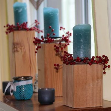 Kerzenständer oder Adventskranz aus Holz selber bauen