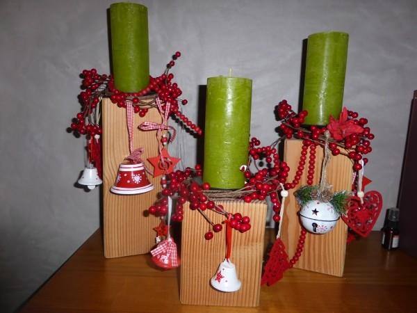 Kerzenständer aus Holz selber bauen