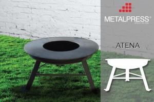 Atena - die Designer-Feuerschale mit integriertem Grill