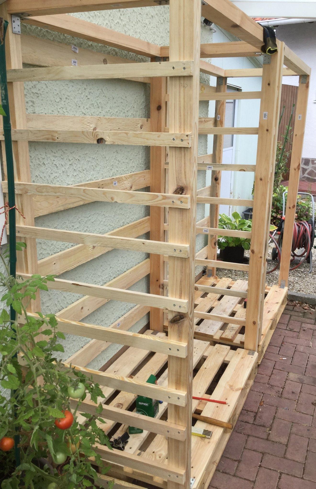 Gut gemocht Paletten Upcycling: Massiven Holzunterstand selbst bauen YV97