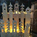 DIY Paletten Upcycling für beleuchtete Weihnachts Dekoration