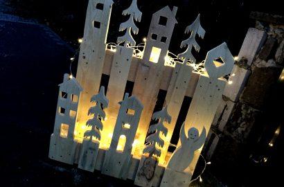 Paletten-Upcycling: Eine einmalige, leuchtende Deko zu Weihnachten