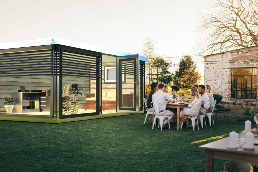Cube FX Home Office im Garten